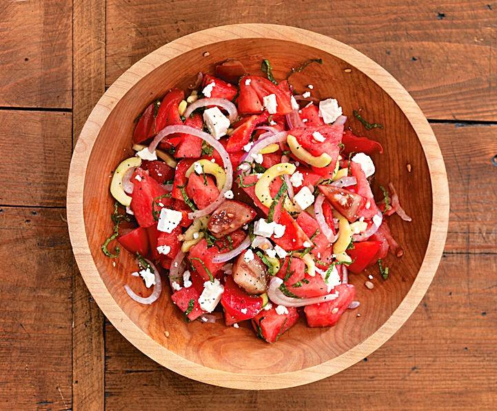 Арбузно-томатный салатик с Фетой