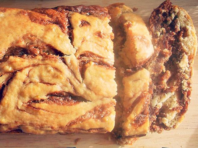 Нутелльный банановый хлеб