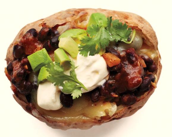 Пряный картофель с бобами