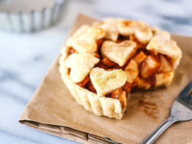 Яблочный пирог на одну порцию