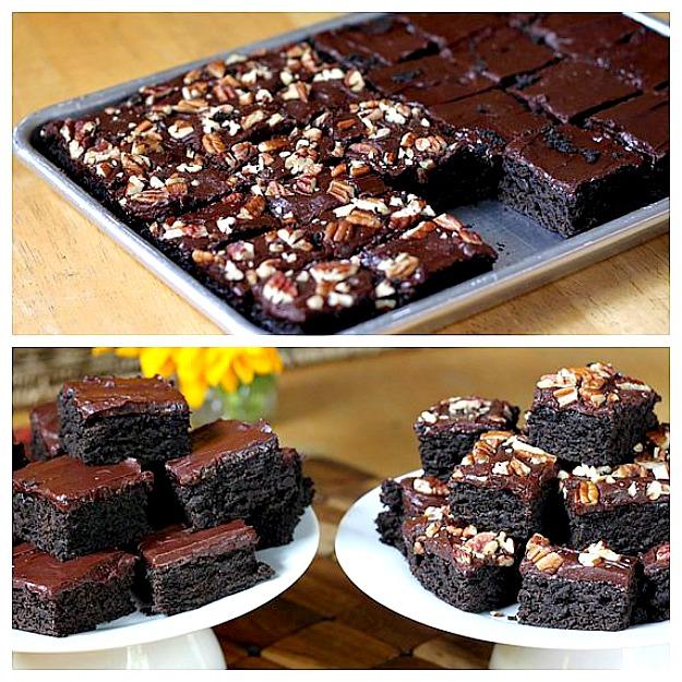 Брауни из тёмного шоколада и цуккини