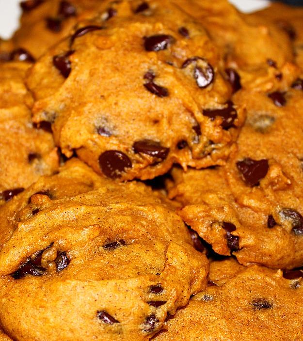 Тыквенно-шоколадное печенье