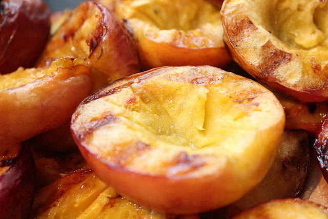 grilled nectarines