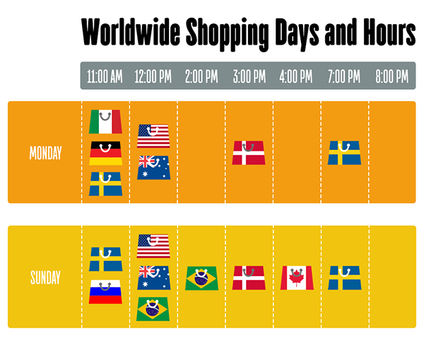 shopping days and hours