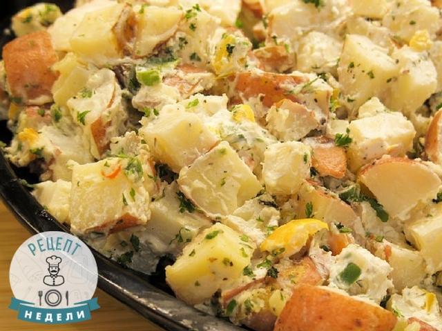 Нежный картофельный салат для тех, кто хочет сэкономить время на готовке