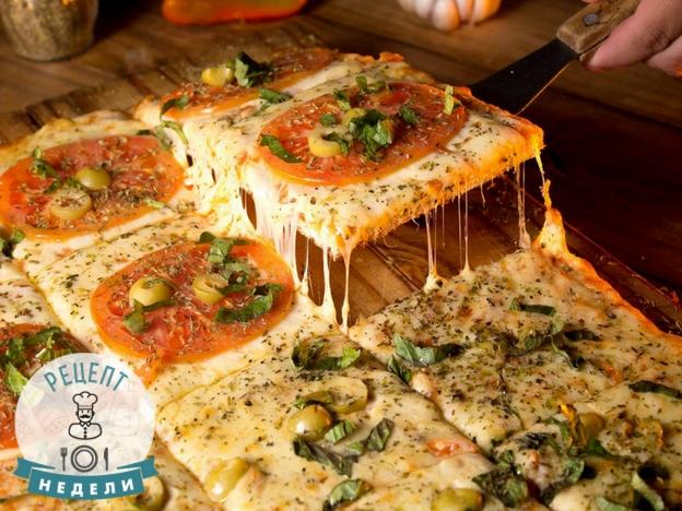 Рецепт пиццы на слоеном тесте