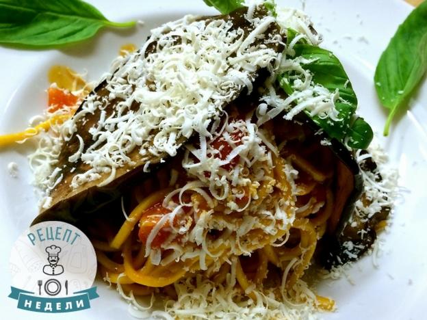 Спагетти баклажан рецепт